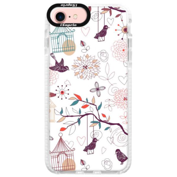 Silikonové pouzdro Bumper iSaprio - Birds - iPhone 7