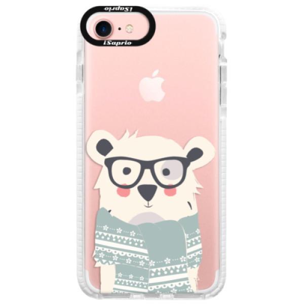 Silikonové pouzdro Bumper iSaprio - Bear with Scarf - iPhone 7