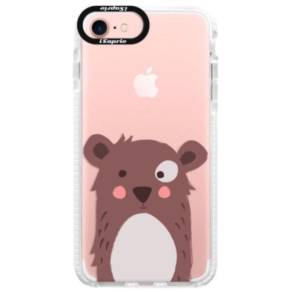 Silikonové pouzdro Bumper iSaprio - Brown Bear - iPhone 7