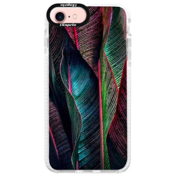 Silikonové pouzdro Bumper iSaprio - Black Leaves - iPhone 7