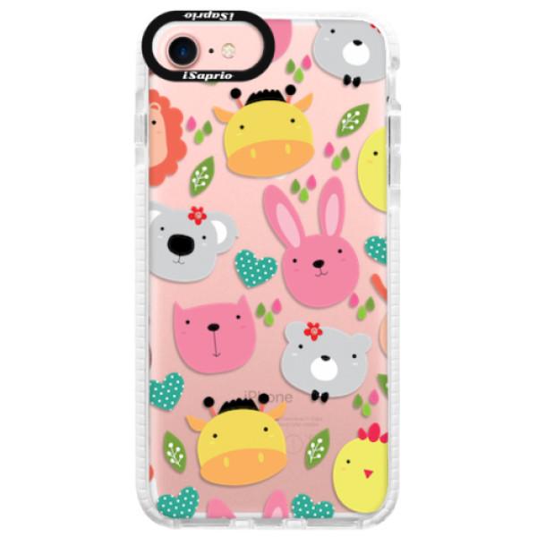 Silikonové pouzdro Bumper iSaprio - Animals 01 - iPhone 7