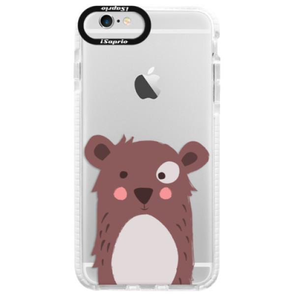 Silikonové pouzdro Bumper iSaprio - Brown Bear - iPhone 6 Plus/6S Plus