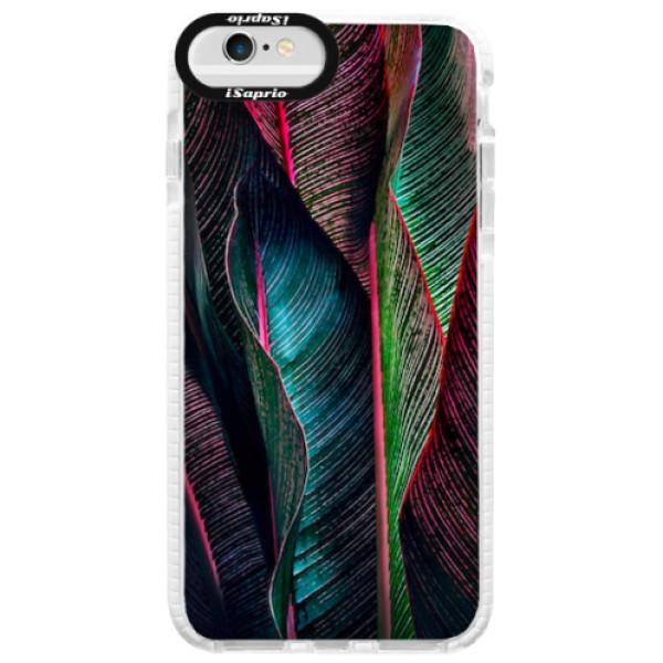 Silikonové pouzdro Bumper iSaprio - Black Leaves - iPhone 6 Plus/6S Plus