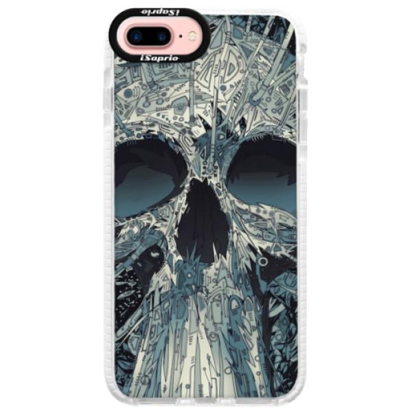 Silikonové pouzdro Bumper iSaprio - Abstract Skull - iPhone 7 Plus