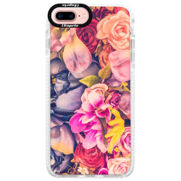 Silikonové pouzdro Bumper iSaprio - Beauty Flowers - iPhone 7 Plus