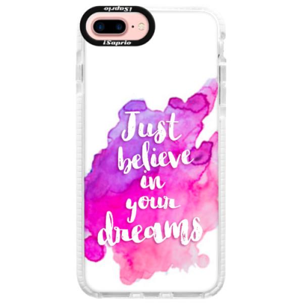 Silikonové pouzdro Bumper iSaprio - Believe - iPhone 7 Plus