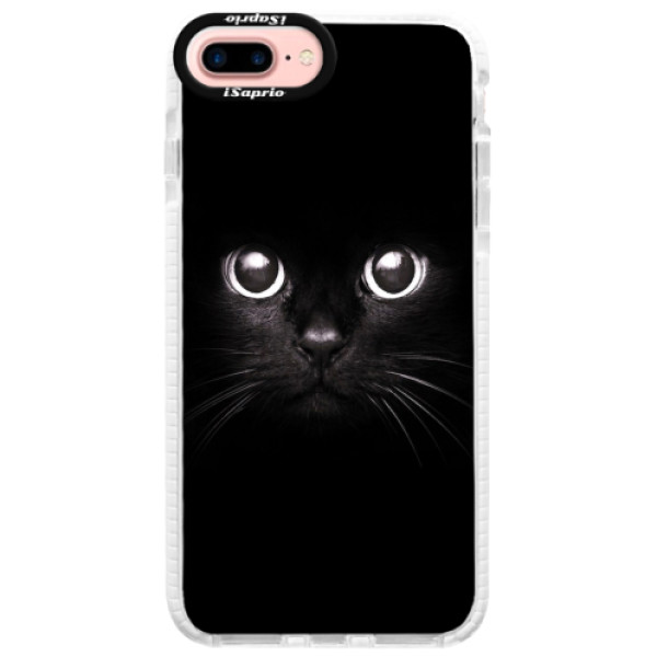 Silikonové pouzdro Bumper iSaprio - Black Cat - iPhone 7 Plus