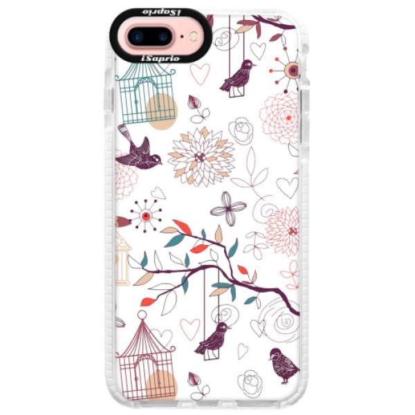 Silikonové pouzdro Bumper iSaprio - Birds - iPhone 7 Plus