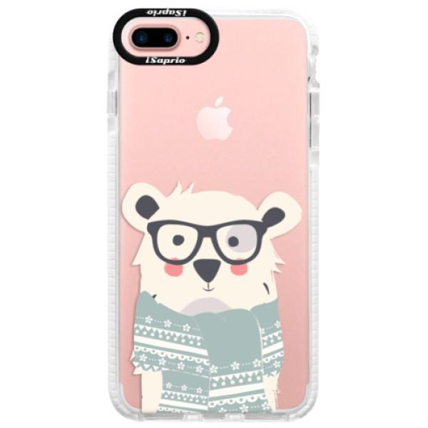 Silikonové pouzdro Bumper iSaprio - Bear with Scarf - iPhone 7 Plus