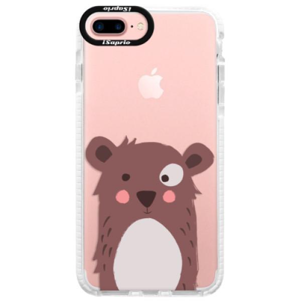 Silikonové pouzdro Bumper iSaprio - Brown Bear - iPhone 7 Plus