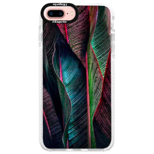 Silikonové pouzdro Bumper iSaprio - Black Leaves - iPhone 7 Plus