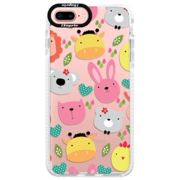 Silikonové pouzdro Bumper iSaprio - Animals 01 - iPhone 7 Plus
