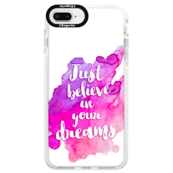 Silikonové pouzdro Bumper iSaprio - Believe - iPhone 8 Plus