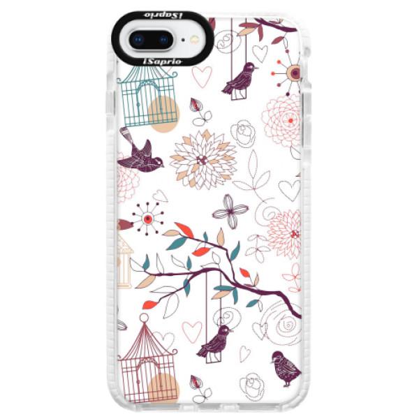 Silikonové pouzdro Bumper iSaprio - Birds - iPhone 8 Plus