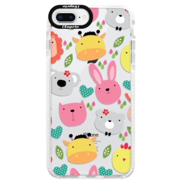 Silikonové pouzdro Bumper iSaprio - Animals 01 - iPhone 8 Plus