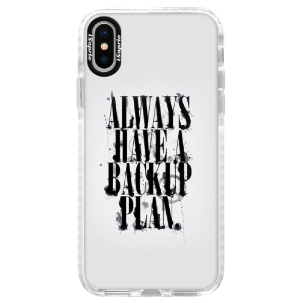 Silikonové pouzdro Bumper iSaprio - Backup Plan - iPhone X