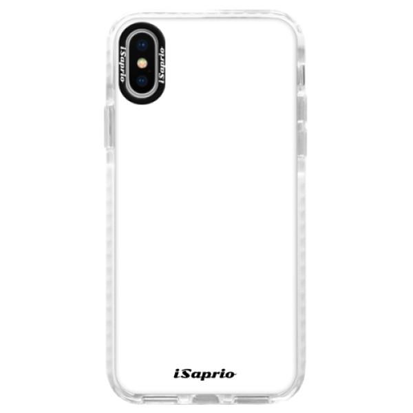 Silikonové pouzdro Bumper iSaprio - 4Pure - bílý - iPhone X
