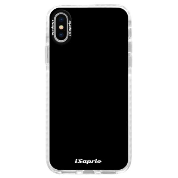 Silikonové pouzdro Bumper iSaprio - 4Pure - černý - iPhone X