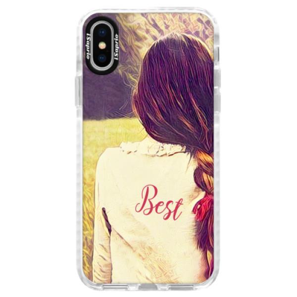 Silikonové pouzdro Bumper iSaprio - BF Best - iPhone X