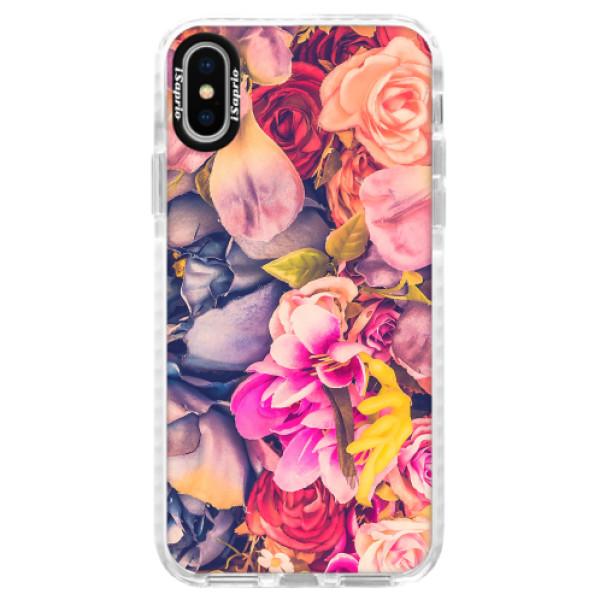 Silikonové pouzdro Bumper iSaprio - Beauty Flowers - iPhone X
