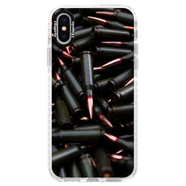 Silikonové pouzdro Bumper iSaprio - Black Bullet - iPhone X