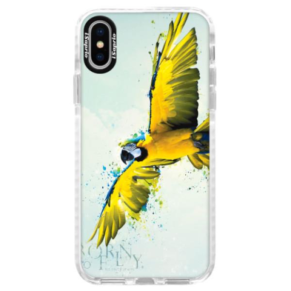 Silikonové pouzdro Bumper iSaprio - Born to Fly - iPhone X