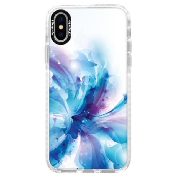 Silikonové pouzdro Bumper iSaprio - Abstract Flower - iPhone X