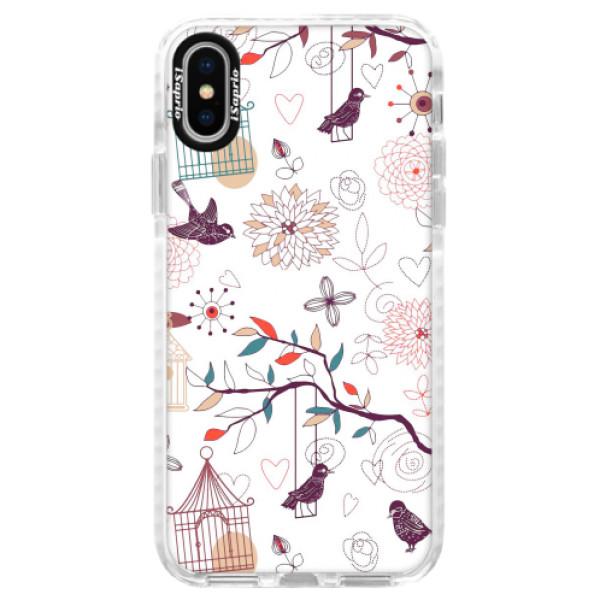 Silikonové pouzdro Bumper iSaprio - Birds - iPhone X