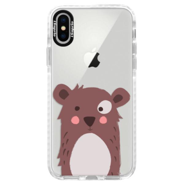 Silikonové pouzdro Bumper iSaprio - Brown Bear - iPhone X