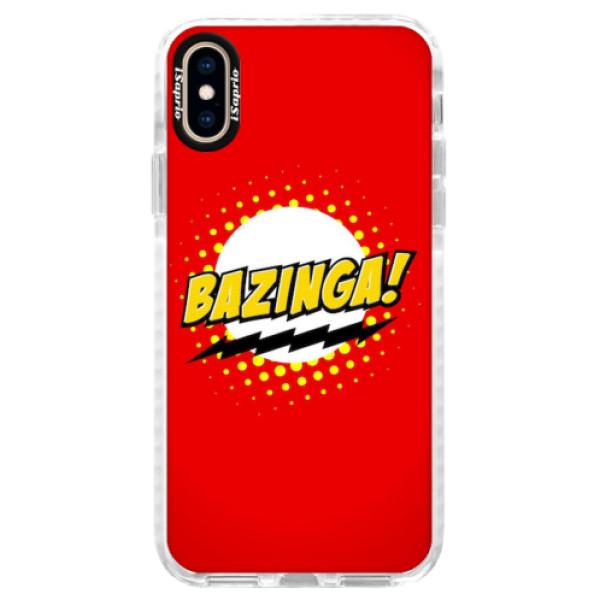 Silikonové pouzdro Bumper iSaprio - Bazinga 01 - iPhone XS