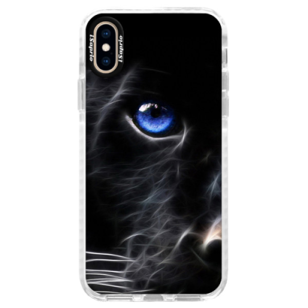 Silikonové pouzdro Bumper iSaprio - Black Puma - iPhone XS