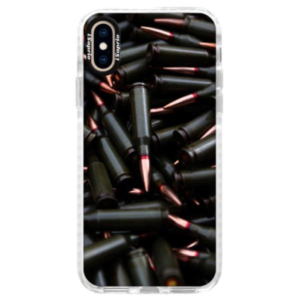 Silikonové pouzdro Bumper iSaprio - Black Bullet - iPhone XS