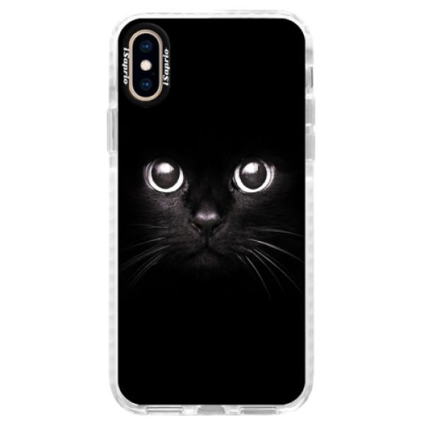 Silikonové pouzdro Bumper iSaprio - Black Cat - iPhone XS