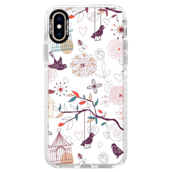 Silikonové pouzdro Bumper iSaprio - Birds - iPhone XS