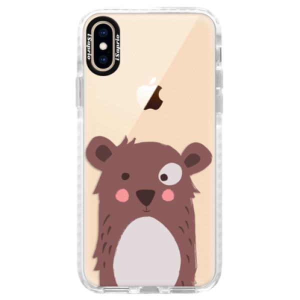Silikonové pouzdro Bumper iSaprio - Brown Bear - iPhone XS