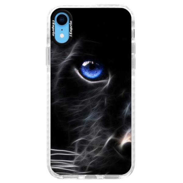 Silikonové pouzdro Bumper iSaprio - Black Puma - iPhone XR