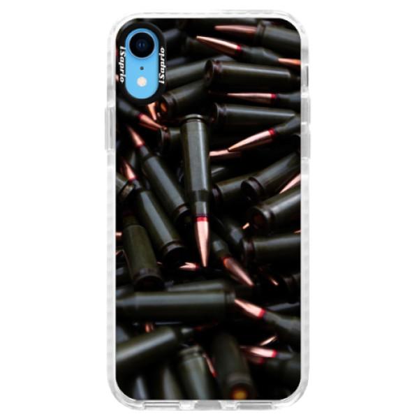 Silikonové pouzdro Bumper iSaprio - Black Bullet - iPhone XR
