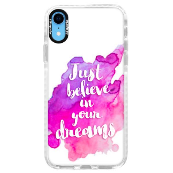 Silikonové pouzdro Bumper iSaprio - Believe - iPhone XR