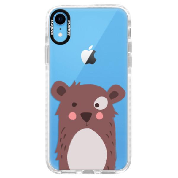 Silikonové pouzdro Bumper iSaprio - Brown Bear - iPhone XR