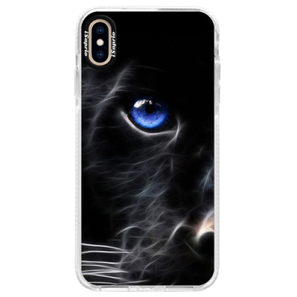 Silikonové pouzdro Bumper iSaprio - Black Puma - iPhone XS Max