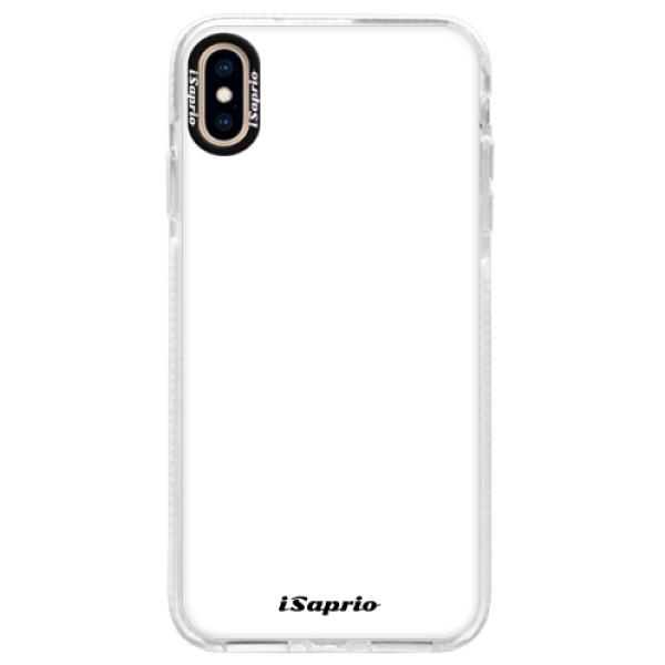 Silikonové pouzdro Bumper iSaprio - 4Pure - bílý - iPhone XS Max