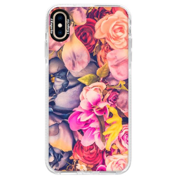 Silikonové pouzdro Bumper iSaprio - Beauty Flowers - iPhone XS Max