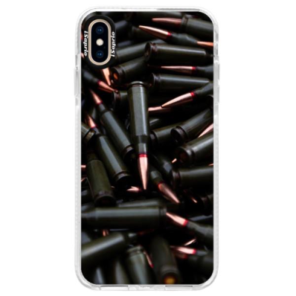 Silikonové pouzdro Bumper iSaprio - Black Bullet - iPhone XS Max