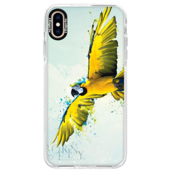Silikonové pouzdro Bumper iSaprio - Born to Fly - iPhone XS Max