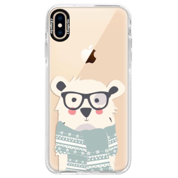 Silikonové pouzdro Bumper iSaprio - Bear with Scarf - iPhone XS Max