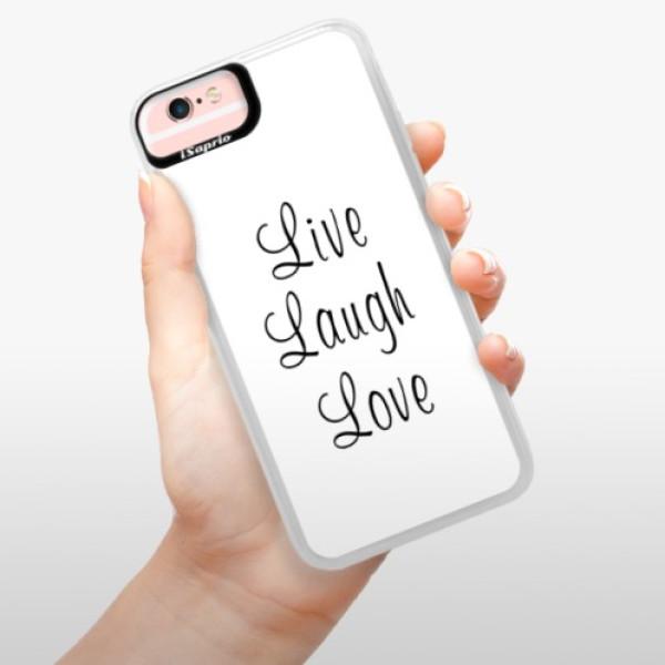 Neonové pouzdro Pink iSaprio - Live Laugh Love - iPhone 6/6S
