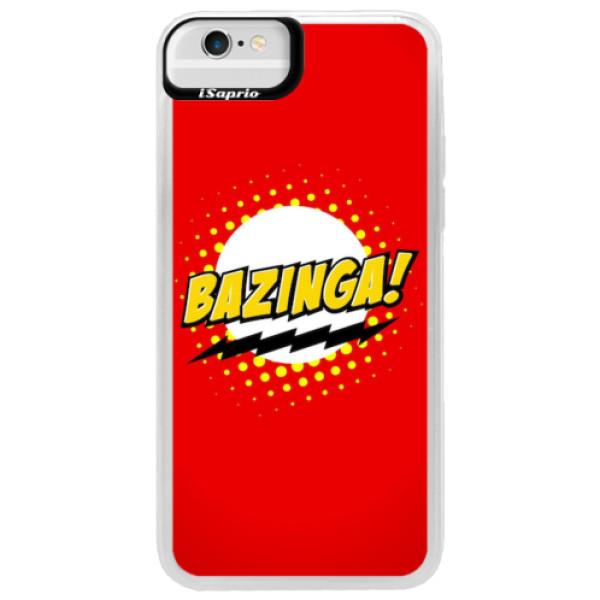Neonové pouzdro Blue iSaprio - Bazinga 01 - iPhone 6/6S
