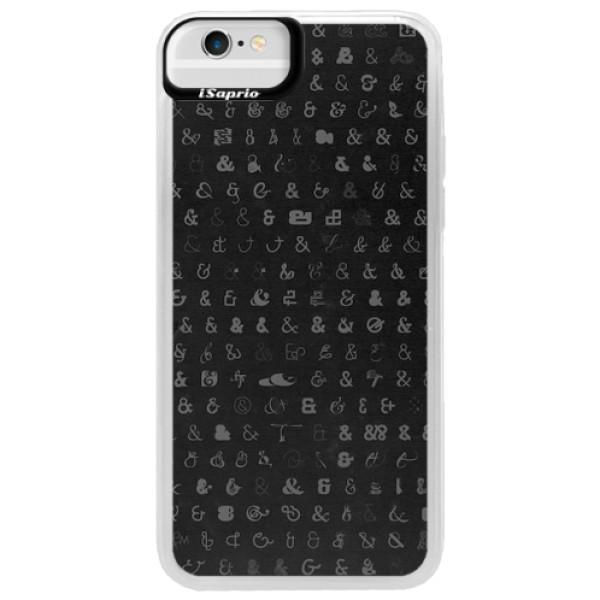 Neonové pouzdro Blue iSaprio - Ampersand 01 - iPhone 6/6S
