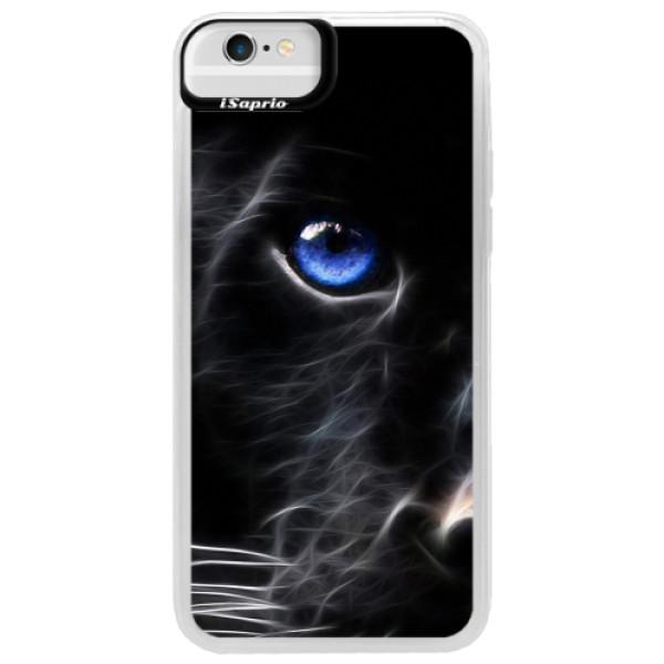 Neonové pouzdro Blue iSaprio - Black Puma - iPhone 6/6S