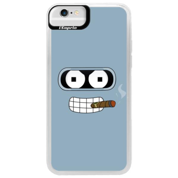 Neonové pouzdro Blue iSaprio - Bender - iPhone 6/6S